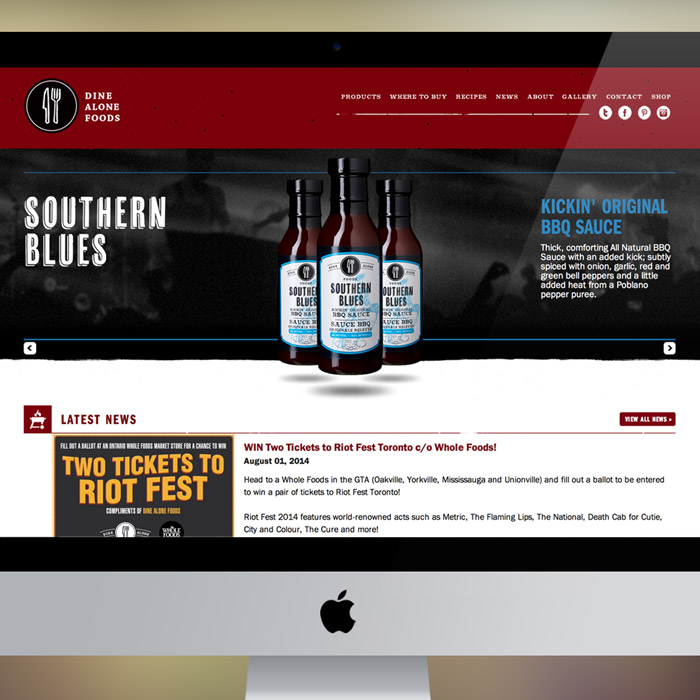 Dine Alone Foods Web Design & Development by Melodic Creative