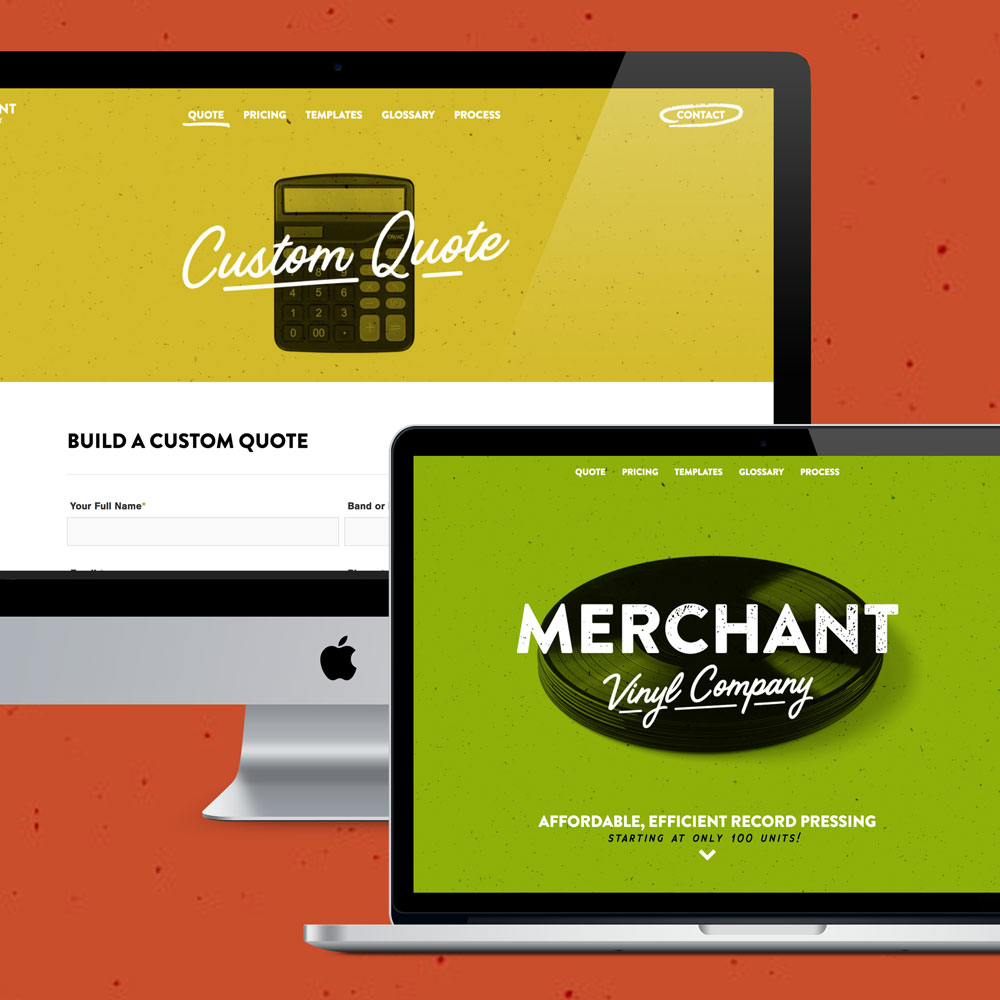 Merchant Vinyl Brand, Web Design & Development by Melodic Creative