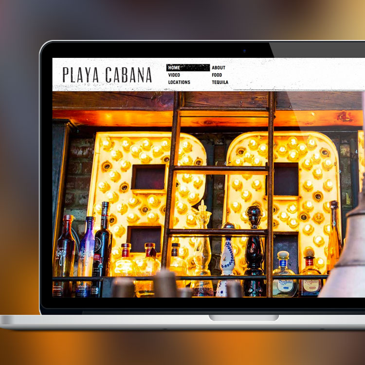 Playa Cabana Restaurants Web Development by Melodic Creativeand Channel 13