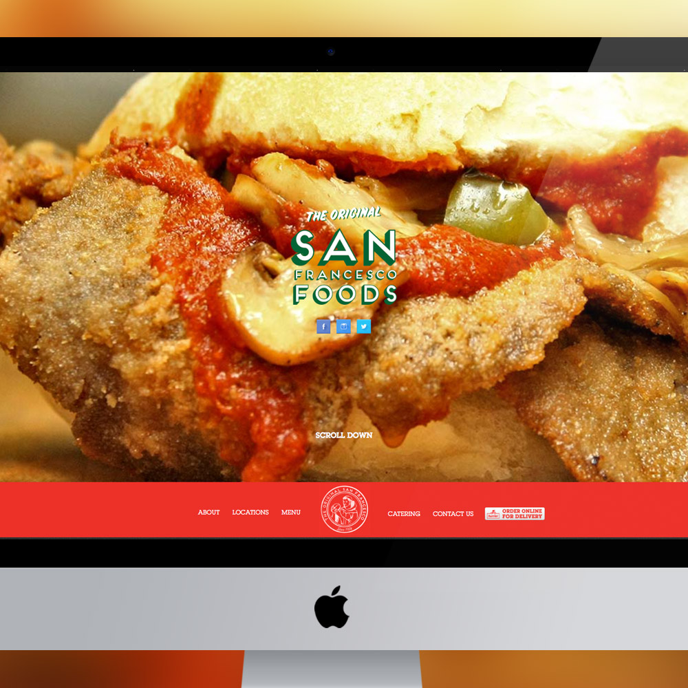 San Francesco Foods Web Development by Melodic Creativeand Launch Co