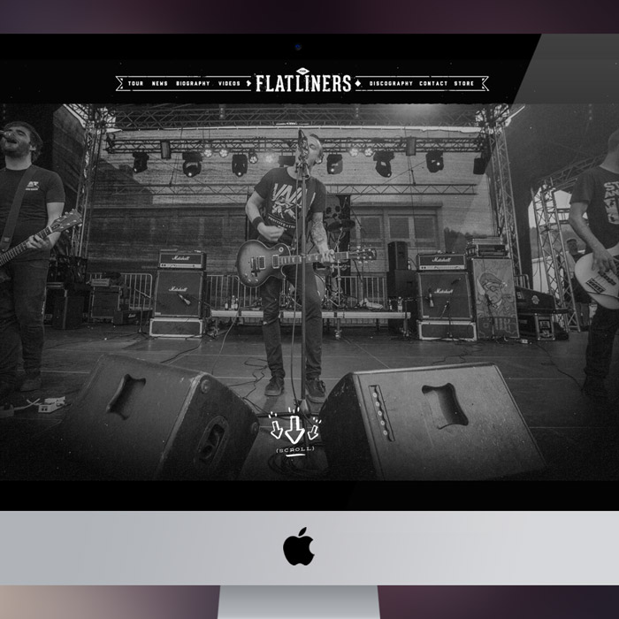 The Flatliners Parallax Web Design & Development by Melodic Creative